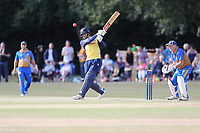 P Kushi of Essex pulls to the square boundary during Upminster CC vs Essex CCC, Benefit Match Cricket at Upminster Park on 8th September 2019