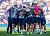 Tottenham players ahead of the Premier League match between Tottenham Hotspur and Crystal Palace at Wembley Stadium, London, England on 14 September 2019. Photo by Vince  Mignott / PRiME Media Images.