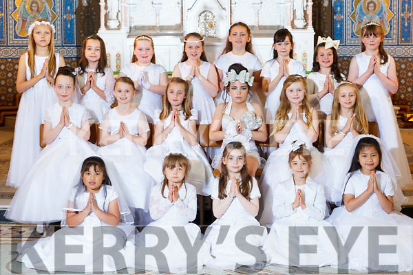 FIRST COMMUNION: The pupils of Helena Hennessy's Class at Presentation, Tralee NS who made their First Holy Communion at St John's Church, Tralee on Saturday