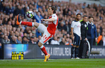 Hector Bellerin of Arsenal during the English Premier League match at the White Hart Lane Stadium, London. Picture date: April 30th, 2017.Pic credit should read: Robin Parker/Sportimage