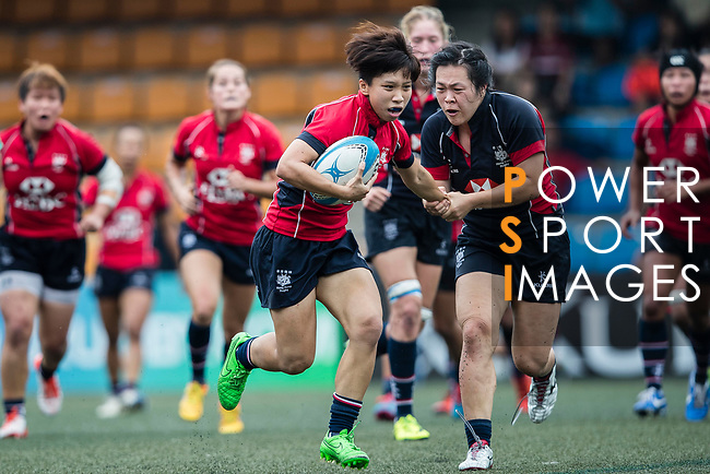 Lee Tsz Ting of Lions (L) in action during the Women's National Super Series 2017 on 13 May 2017, in Hong Kong Football Club, Hong Kong, China. Photo by Cris Wong / Power Sport Images