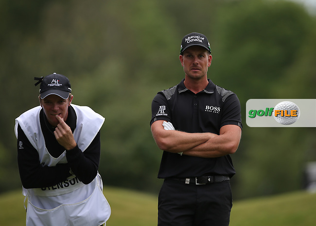 Henrik Stenson (SWE) found his rhythm with 7 birdies before rain suspended play during Round One of the BMW PGA Championship from Wentworth Golf Club, Virginia Waters, London, UK. Picture:  David Lloyd / www.golffile.ie