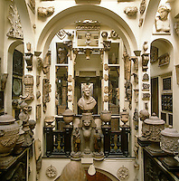 The gallery designed by Sir John Soane to house his private collection of antiquities is crammed from floor to ceiling with Greek and Roman vases, marble busts and architectural fragments