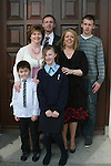 Shauna Parkinson and family at the Ballymakenny NS Confirmation...Photo NEWSFILE/Jenny Matthews.(Photo credit should read Jenny Matthews/NEWSFILE)....This Picture has been sent you under the condtions enclosed by:.Newsfile Ltd..The Studio,.Millmount Abbey,.Drogheda,.Co Meath..Ireland..Tel: +353(0)41-9871240.Fax: +353(0)41-9871260.GSM: +353(0)86-2500958.email: pictures@newsfile.ie.www.newsfile.ie.FTP: 193.120.102.198.