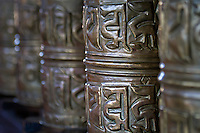 Prayer Wheels in the  Themisang Monastery, Jammu and Kashmir,  India