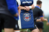 A general view of the Bath Rugby badge on a tackle shield. Bath Rugby pre-season training session on July 28, 2017 at Farleigh House in Bath, England. Photo by: Patrick Khachfe / Onside Images