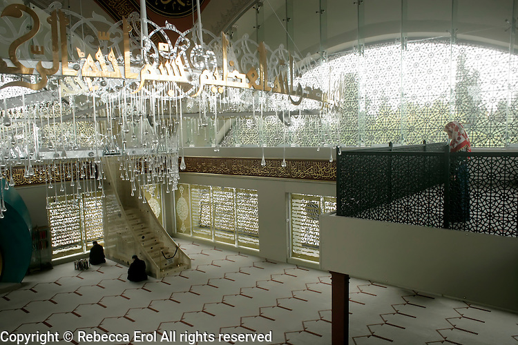 The Sakirin Mosque in Uskudar, Istanbul. Newly built in May 2009, architect Husrev Tayla, interior designer Zeynep Fadilioglu