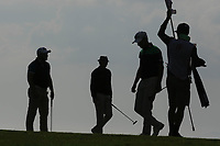 Tapio Pulkkanen (FIN), Jason Scrivener (AUS), Zander Lombard (RSA) during the first round of the Rocco Forte Sicilian Open played at Verdura Resort, Agrigento, Sicily, Italy 10/05/2018.<br /> Picture: Golffile | Phil Inglis<br /> <br /> <br /> All photo usage must carry mandatory copyright credit (&copy; Golffile | Phil Inglis)