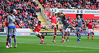 Lincoln City's Harry Anderson scores his side's second goal<br /> <br /> Photographer Chris Vaughan/CameraSport<br /> <br /> The EFL Sky Bet Championship - Rotherham United v Lincoln City - Saturday 10th August 2019 - New York Stadium - Rotherham<br /> <br /> World Copyright © 2019 CameraSport. All rights reserved. 43 Linden Ave. Countesthorpe. Leicester. England. LE8 5PG - Tel: +44 (0) 116 277 4147 - admin@camerasport.com - www.camerasport.com