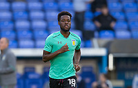 Joshua Onomah of Aston Villa warms up ahead of the Sky Bet Championship match between Reading and Aston Villa at the Madejski Stadium, Reading, England on 15 August 2017. Photo by Andy Rowland / PRiME Media Images.<br /> **EDITORIAL USE ONLY FA Premier League and Football League are subject to DataCo Licence.