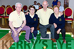 The Killorglin team that played in the National Bowls finals in the INEC on Wednesday l-r: Bernard Flynn, Hannah Clifford, James Murphy and Connie Sheahan
