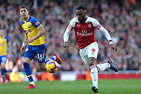 Alexandre Lacazette of Arsenal and Jan Bednarek of Southampton during Arsenal vs Southampton, Premier League Football at the Emirates Stadium on 24th February 2019
