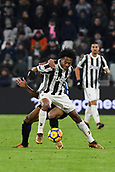 9th December 2017, Allianz Stadium, Turin, Italy; Serie A football, Juventus versus Inter Milan; Juan Cuadrado shields the ball from Dalbert