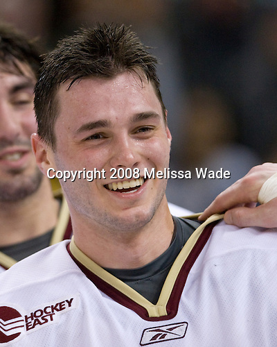 Matt Price (BC 25) - The Boston College Eagles defeated the Harvard University Crimson 6-5 in overtime on Monday, February 11, 2008, to win the 2008 Beanpot at the TD Banknorth Garden in Boston, Massachusetts. Matt Price, sophomore forward for the Boston College Eagles, is a free agent.