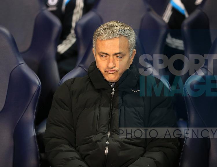 Chelsea's Jose Mourinho in action<br /> <br /> Barclays Premier League - Tottenham Hotspur vs Chelsea - White Hart Lane  - England - 1st January 2015 - Picture David Klein/Sportimage