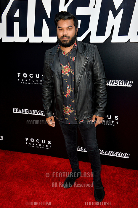 "Adrian Dev at the Los Angeles premiere of ""BlacKkKlansman"" at the Academy's Samuel Goldwyn Theatre, Beverly Hills, USA 08 Aug. 2018<br /> Picture: Paul Smith/Featureflash/SilverHub 0208 004 5359 sales@silverhubmedia.com"