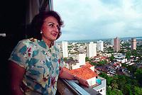 Ex esposa do senador J&aacute;der Barbalho, Elcione Barbalho hoje Deputada Federal pelo Par&aacute; deu seu depoimento sobre as investiga&ccedil;&otilde;es de emiss&atilde;o de TDAs fraudulentas na sede do jornal da fam&iacute;lia Di&aacute;rio do Par&aacute;, &uacute;ltimo dia 10/07/2001<br />Bel&eacute;m Par&aacute;<br />1&ordm;Semestre de 2001<br />Foto Ari Souza/O Liberal