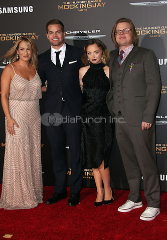 "Los Angeles, CA - November 16 Jenn Brown, Wes Chatham, Elden Henson, Kira Sternbach Attending Premiere Of Lionsgate's ""The Hunger Games: Mockingjay - Part 2"" At Microsoft Theater On November 16, 2015. Photo Credit: Faye Sadou / MediaPunch"