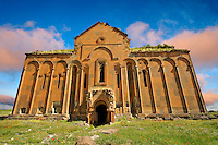 The cathedral of Ani, Also known as Surp Asdvadzadzin (church of the Holy Mother of God), its construction was started in the year 989, under King Smbat II.  Ani archaelogical site on the Ancient Silk Road , Kars , Anatolia, Turkey