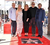 LOS ANGELES, CA. August 29, 2019: Kirsten Dunst, Klaus Dunst, Inez Rupprecht, Christian Dunst & Jesse Plemons at the Hollywood Walk of Fame Star Ceremony honoring Kirsten Dunst.<br /> Pictures: Paul Smith/Featureflash