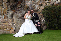 Sarah & Derek's Perfect Wedding, Aberdour Castle, Fife, Scotland.