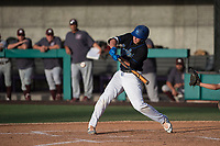 Sandra Day O'Connor Eagles third baseman Nolan Gorman (9) at bat during a game against Mountain Ridge High School at Brazell Field at GCU on April 19, 2018 in Glendale, Arizona. Mountain Ridge defeated Sandra Day O'Connor 2-1. (Zachary Lucy/Four Seam Images)