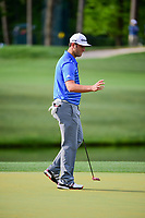 Jon Rahm (ESP) after sinking his putt on 12 during round 1 of the Shell Houston Open, Golf Club of Houston, Houston, Texas, USA. 3/30/2017.<br /> Picture: Golffile | Ken Murray<br /> <br /> <br /> All photo usage must carry mandatory copyright credit (&copy; Golffile | Ken Murray)