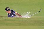 Dubai World Championship Golf. Earth Course,.Jumeirah Golf Estate, Dubai, U.A.E...Camilo Villegas playing his third shot out of the bunker on the third hole during the third round of the Dubai World Golf championship..Photo: Fran Caffrey/www.golffile.ie...