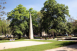 The obelisk in the centre of Queen Square, Bath erected by Beau Nash in 1738
