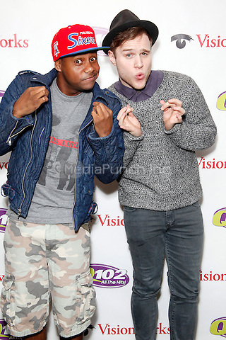 BALA CYNWYD, PA - APRIL 20 : Olly Murs visits Q 102 Performance Theater in Bala Cynwyd, Pa on April 20, 2013  © Star Shooter / MediaPunch Inc