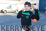 Young boxer Cody Goggin from Ballyduff warming up for the Tralee Boxing Club annual tournament in the club on Sunday.