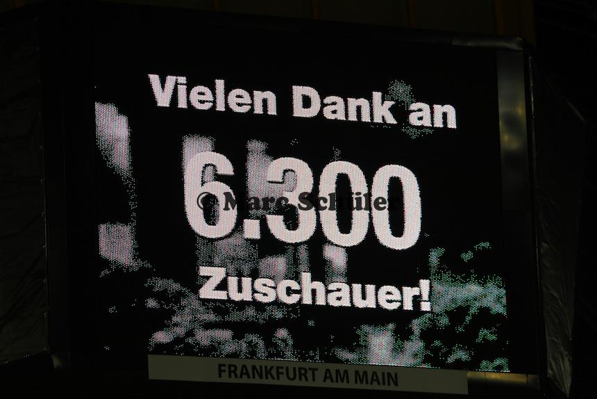 6300 Zuschauer in der Commerzbank Arena - 25.10.2016: Eintracht Frankfurt vs. FC Ingolstadt 04, 2. Hauptrunde DFB-Pokal, Commerzbank Arena