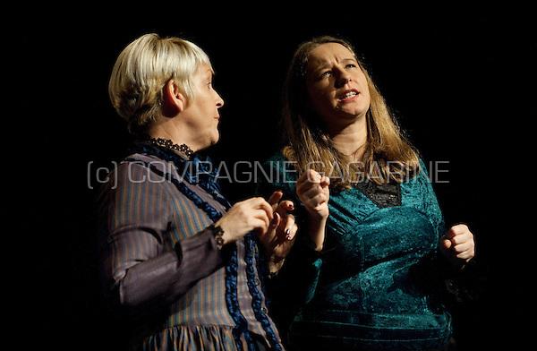 """Theatre company De Dijlezonen playing """"Boston Marriage"""" from David Mamet, directed by Jan Schoolmeesters (Belgium, 02/02/2013)"""