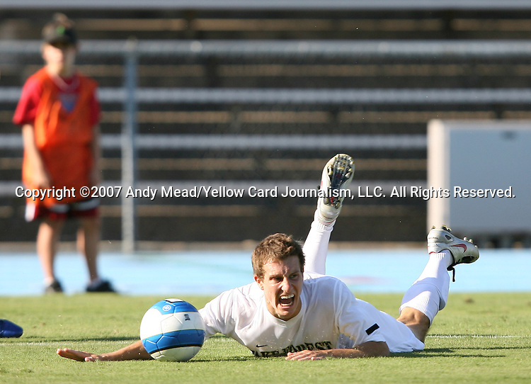 2 September 2007: Wake Forest's Corben Bone. The Wake Forest University Demon Deacons defeated the Monmouth University Hawks 2-0 at Fetzer Field in Chapel Hill, North Carolina in an NCAA Division I Men's Soccer game.
