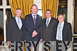 GUEST SPEAKER: Rugby legend Mick Galway with member's of the Kerry Supporter's committee at the Kerry Supporters annual dinner at the Ballygarry House hotel and Spa on Saturday l-r: John King (secretary), Mick Galway, John O'Connell and Donal O'Leary (chairman)..
