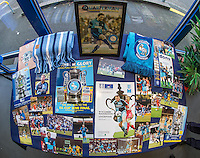 A Photo & Programmes of Paul McCarthy (who recently passed away) in the FA Cup Semi-Final are displayed in the Reception ahead of the Sky Bet League 2 match between Wycombe Wanderers and Crawley Town at Adams Park, High Wycombe, England on 25 February 2017. Photo by Andy Rowland / PRiME Media Images.