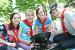 Hannah McCloskey, Jenny Mulrey, Aisling Munster and Elizabeth McCloskey at the Girl Guides Cook Out Competition at Townley Hall...Photo NEWSFILE/Jenny Matthews.(Photo credit should read Jenny Matthews/NEWSFILE)....This Picture has been sent you under the condtions enclosed by:.Newsfile Ltd..The Studio,.Millmount Abbey,.Drogheda,.Co Meath..Ireland..Tel: +353(0)41-9871240.Fax: +353(0)41-9871260.GSM: +353(0)86-2500958.email: pictures@newsfile.ie.www.newsfile.ie.FTP: 193.120.102.198.