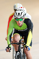 Mitchel Fritzsimons competes in the U15 Boys Point Race  at the Age Group Track National Championships, Avantidrome, Home of Cycling, Cambridge, New Zealand, Thurssday, March 16, 2017. Mandatory Credit: © Dianne Manson/CyclingNZ  **NO ARCHIVING**