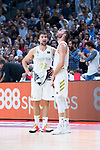 Sergio Llull (l) and Rudy Fernandez during Real Madrid vs FC Barcelona final of Supercopa Endesa. September 22, 2019. (ALTERPHOTOS/Francis González)