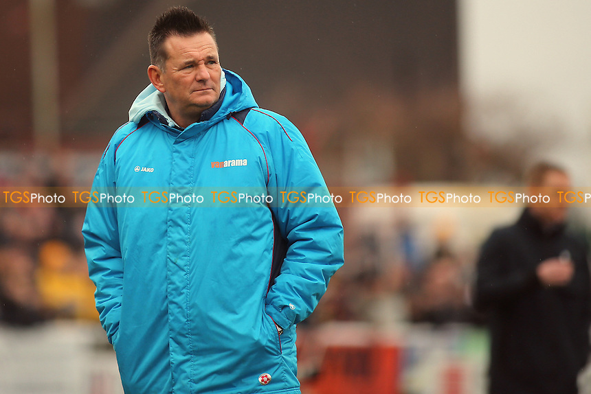 Sutton United Manager, Paul Doswell during Sutton United  vs Leeds United, Emirates FA Cup Football at the Borough Sports Ground on 29th January 2017