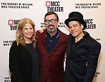 Jessie Nelson, Duncan Sheik and Steven Sater attends the opening night performance of the MCC Theater's 'Alice By Heart' at The Robert W. Wilson Theater Space on February 26, 2019 in New York City.