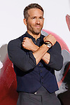 Canadian actor Ryan Reynolds poses for the cameras during the Japan Premiere for his film Deadpool 2 on May 29, 2018, Tokyo, Japan. The second installment of the Marvel hit movie will be released in Japan onJune 1st. (Photo by Rodrigo Reyes Marin/AFLO)