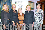 MEDIA: Having a ball at the Women in Media Awards night in Killcooley House Bar & Restaurant, Ballybunion on Saturday, l-r: Delia and Michelle Keane (Knocknagoshel), Marie O'Connor, Geraldine Kennedy and Norma Keane.