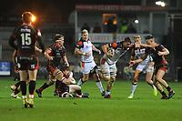Callum Hunter-Hill of Edinburgh in action during the Guinness Pro14 Round 09 match between the Dragons and Edinburgh at Rodney Parade Stadium in Newport, Wales, UK. Sunday 25 November 2018