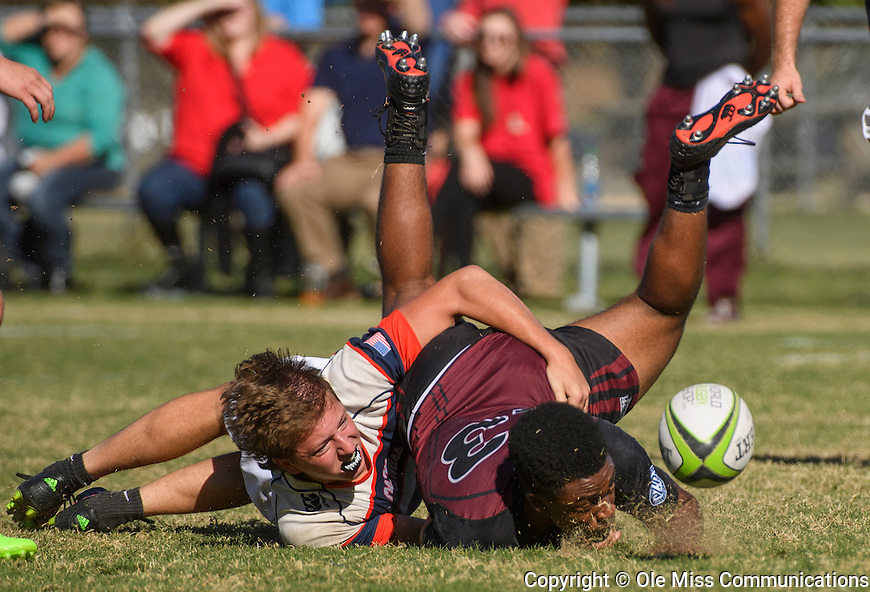 Ole Miss club rugby vs. Mississippi State. Photo by Thomas Graning/Ole Miss Communications