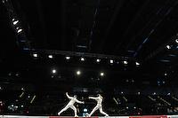 European Championships Fencing 2010 / Fecht Europameisterschaft 2010 in Leipzig - Competition Championat d'europe - im Bild: XXXXX im Gefecht  . Foto: Norman Rembarz..Norman Rembarz , Autorennummer 41043728 , Augustenstr. 2, 04317 Leipzig, Tel.: 01794887569, Hypovereinsbank: BLZ: 86020086, KN: 357889472, St.Nr.: 231/261/06432 - Jegliche kommerzielle Nutzung ist honorar- und mehrwertsteuerpflichtig! Persönlichkeitsrechte sind zu wahren. Es wird keine Haftung übernommen bei Verletzung von Rechten Dritter. Autoren-Nennung gem. §13 UrhGes. wird verlangt. Weitergabe an Dritte nur nach  vorheriger Absprache..