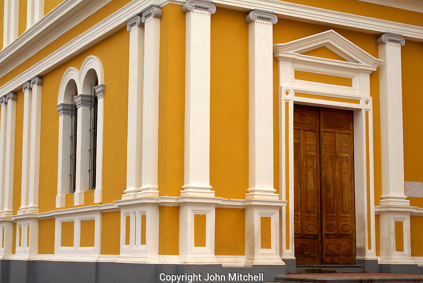 Neoclassical architecture, cathedral in the Spanish colonial city of Granada, Nicaragua