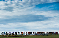 Picture by Alex Broadway/SWpix.com - 05/03/2018 - Cycling - 2018 Paris Nice - Stage Two - Orsonville to Vierzon  - The peloton rides through the French countryside.<br /> <br /> NOTE : FOR EDITORIAL USE ONLY. THIS IS A COPYRIGHT PICTURE OF ASO. A MANDATORY CREDIT IS REQUIRED WHEN USED WITH NO EXCEPTIONS to ASO/Alex Broadway MANDATORY CREDIT/BYLINE : ALEX BROADWAY/ASO