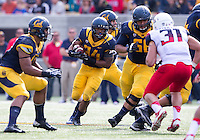 Saturday, November 2nd, 2013: California's Darren Ervin follows his offense lineman for some yardage during a game agains Arizona at Memorial Stadium, Berkeley, Final Score: Arizona defeated California 33-28