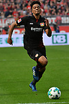 14.04.2018, BayArena, Leverkusen , GER, 1.FBL., Bayer 04 Leverkusen vs. Eintracht Frankfurt<br /> im Bild / picture shows: <br /> Benjamin Henrichs (Leverkusen #39), Einzelaktion, Ganzk&ouml;rper / Ganzkoerper,  <br /> <br /> <br /> Foto &copy; nordphoto / Meuter
